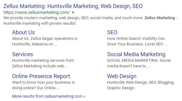 search engine result for marketing